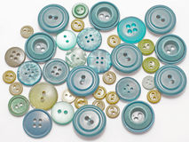 grönt gammalt för knappar Fotografering för Bildbyråer