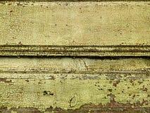 Grönt gammalt målarfärgträ för textur Royaltyfri Fotografi