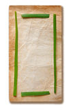 grönt gammalt papper för ram Royaltyfri Bild
