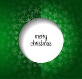 Grönt hälsningkort för glad jul Royaltyfria Bilder