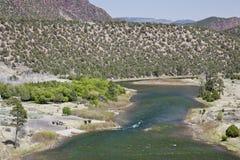 grönt hål little flod utah arkivbilder