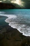 grönt hav för färg Fotografering för Bildbyråer