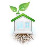 grönt hus stock illustrationer