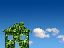 grönt hus Arkivfoto