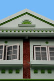 grönt hus royaltyfria bilder
