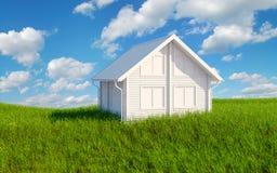 grönt hus för gräs Arkivfoto