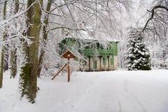 Grönt hus Hummelshain Arkivfoto