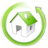 grönt hus little Fotografering för Bildbyråer