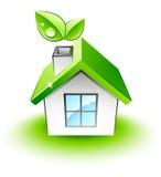 grönt hus little Royaltyfri Fotografi