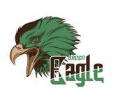 Grönt huvud Eagle Vector Art Royaltyfri Bild