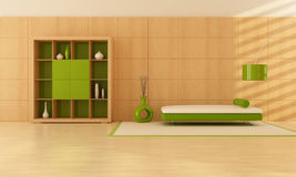 grönt inre trä Royaltyfria Foton