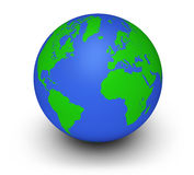 Grönt jordklotekologibegrepp Royaltyfri Bild