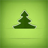 Grönt julgrankort Arkivbild