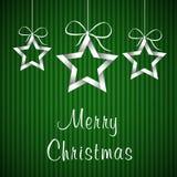 Grönt julkort 2 Arkivbild