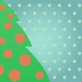 Grönt julträd Arkivbild