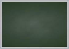Grönt kritabräde med metallramen royaltyfri fotografi