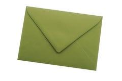 Grönt kuvert Fotografering för Bildbyråer