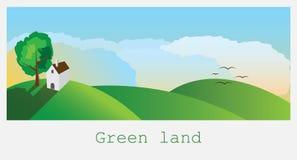 grönt land stock illustrationer