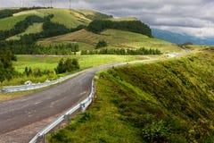 Grönt landskap överst av Sao Miguel Arkivfoton