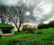 grönt landskap Arkivfoton
