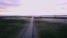 Grönt landskap med många sjöar på Kolahalvön, Ryssland royaltyfria bilder