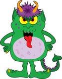 grönt litet monster Arkivbilder