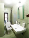 grönt modernt för badrum arkivbilder