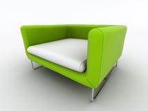 grönt modernt för fåtölj Arkivbild