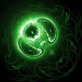 grönt mystic planet Arkivbild
