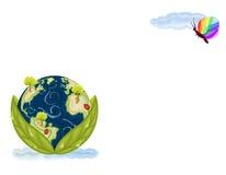 grönt naturbevarande för jord Arkivbilder