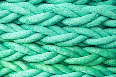 Grönt nautiskt rep, närbildbakgrundstextur royaltyfria foton