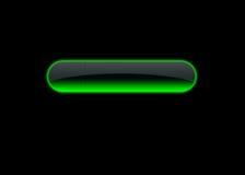 grönt neon för knapp royaltyfri illustrationer