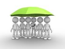 Grönt paraply Arkivbilder