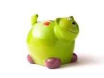 grönt piggy för grupp Royaltyfri Bild