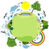 grönt planet Arkivfoton