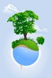 grönt planet royaltyfri illustrationer