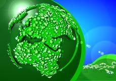 Grönt planet Arkivfoto