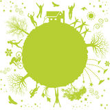 grönt planet Royaltyfri Bild