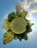 Grönt planet. Ekologi- och avståndsbegrepp Arkivbild