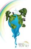 grönt planet för ekologi Arkivbilder