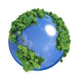grönt planet för jord Arkivfoto