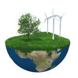 grönt planet för jord Arkivbilder
