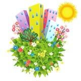 grönt planet för stad Royaltyfria Bilder