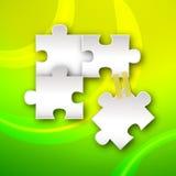 Grönt pussel Arkivbilder