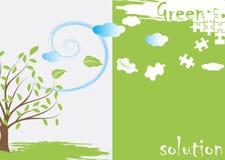 Grönt pussel Arkivbild