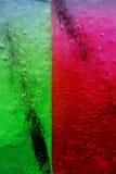 Grönt rött vatten för sodavattenvattensodavatten Arkivfoton