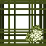 Grönt raster med stjärnor - på vit vektor illustrationer