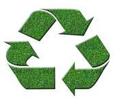 grönt recyletecken Arkivbild