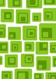 grönt retro vektor illustrationer