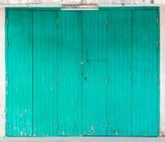 Grönt retro fönster Arkivfoton